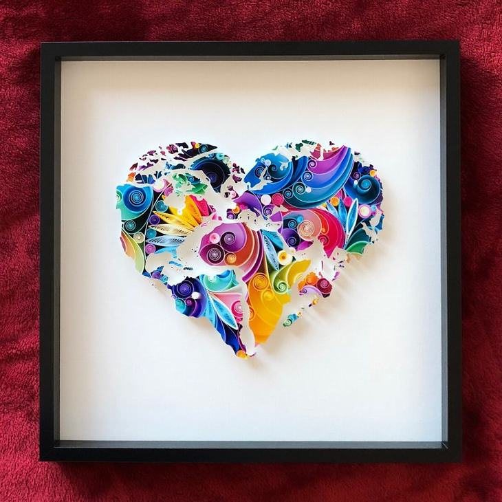 beautiful paper quilling art by sena runa art babamail rh ba bamail com  pictures of paper quilling art