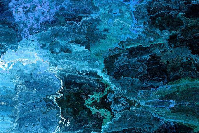 Una ilustración gráfica abstracta en azul