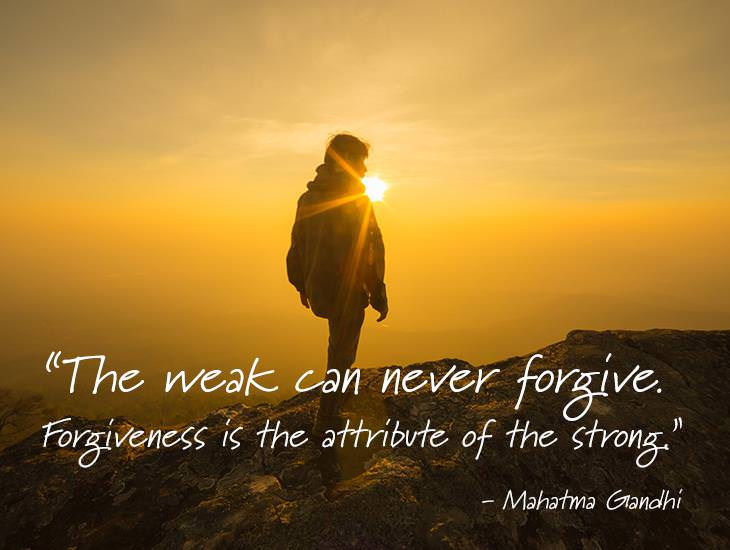 Forgiveness is the attribute of the strong inspiring quotes forgiveness is for the strong m4hsunfo