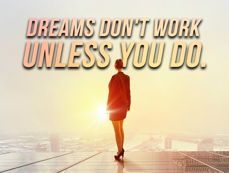 Dreams dont work unless you do inspiring quotes ecards dreams dont work unless you m4hsunfo