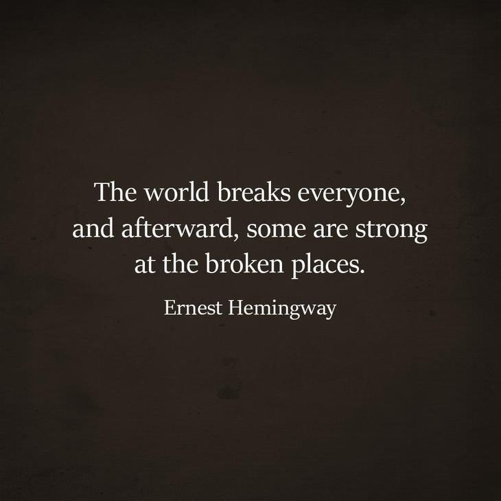 Inspiring Quotes By Writer Ernest Hemingway Spirituality Babamail