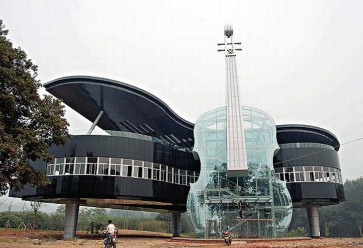 Futuristic Buildings Piano Building