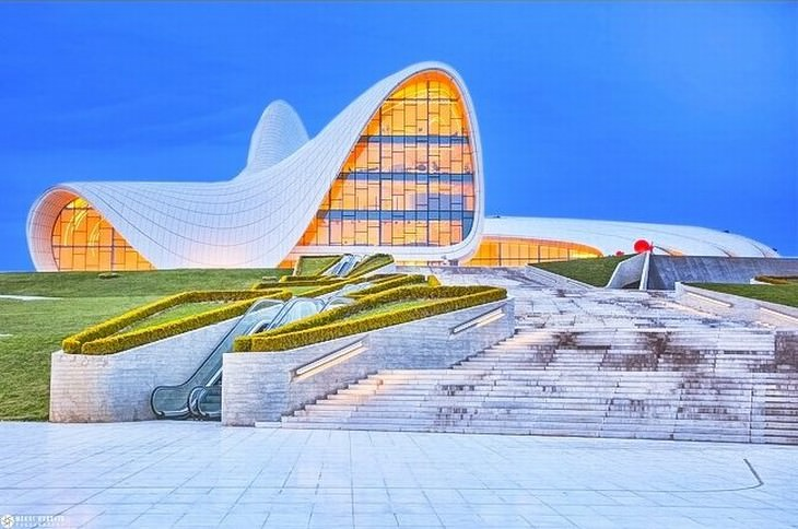 Futuristic Buildings The Heydar Aliyev Cultural Center