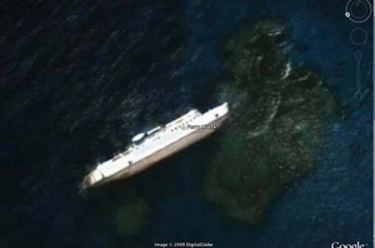 Shocking Things Discovered On Google Earth Baba Recommends - Cruise ship google earth