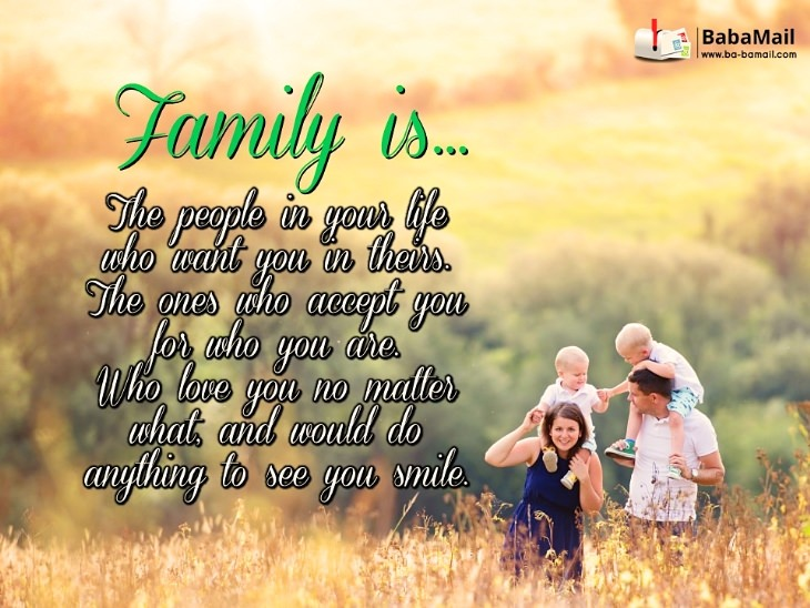 Here's What Family Is All About