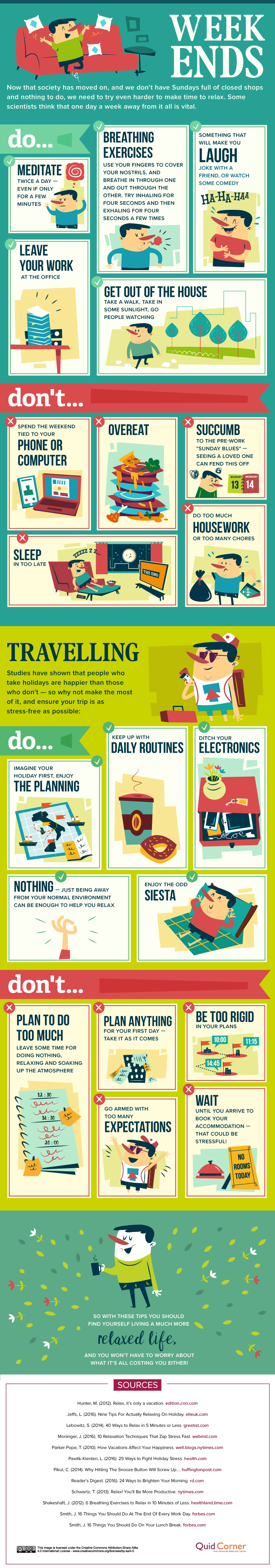 50 ways to relax without spending