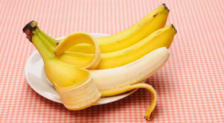 joke bananas on plate