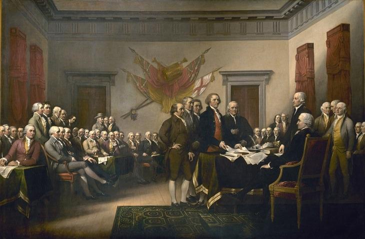 Declaration of Independence, America, History, John Trumbull, Art, Painting