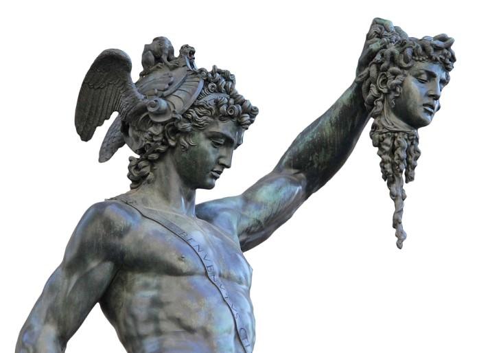 Perseus With The Head of Medusa, Greek Mythology, Zeus, Art, History, Painting, Benvenuto Cellini, Italian, Italy