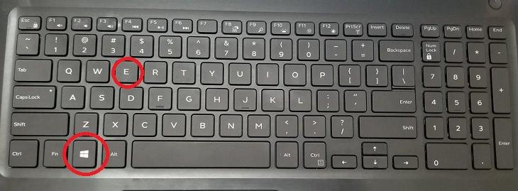 Windows Logo Key, E Key, Short Cut, File Explorer, Open Files