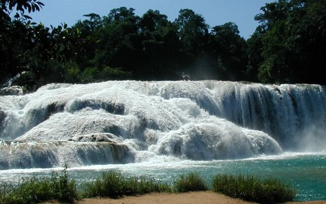 Waterfalls from around the world,, Mexico, Agua Azul