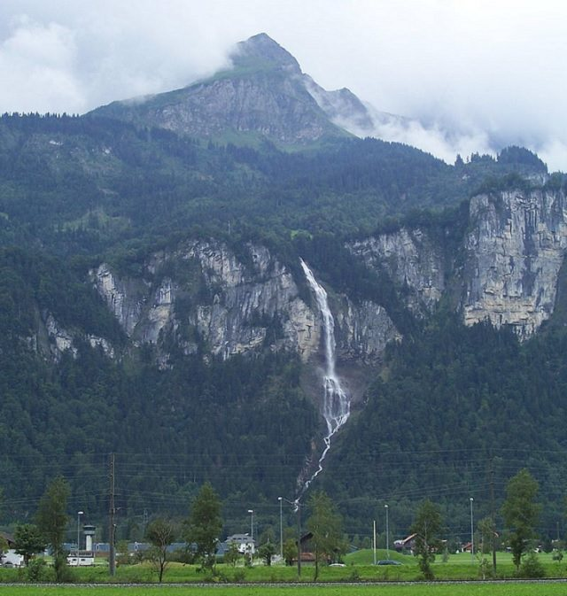 Waterfalls from around the world, Oltschibach waterfall in Brienz, Switzerland