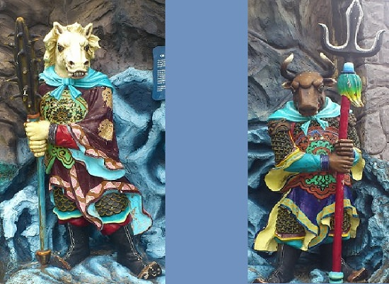 Horse-Inspired Creatures from Mythology and Folklore, Horse-Face, and his counterpart Ox-Head, guardians of the Underworld in Chinese folklore