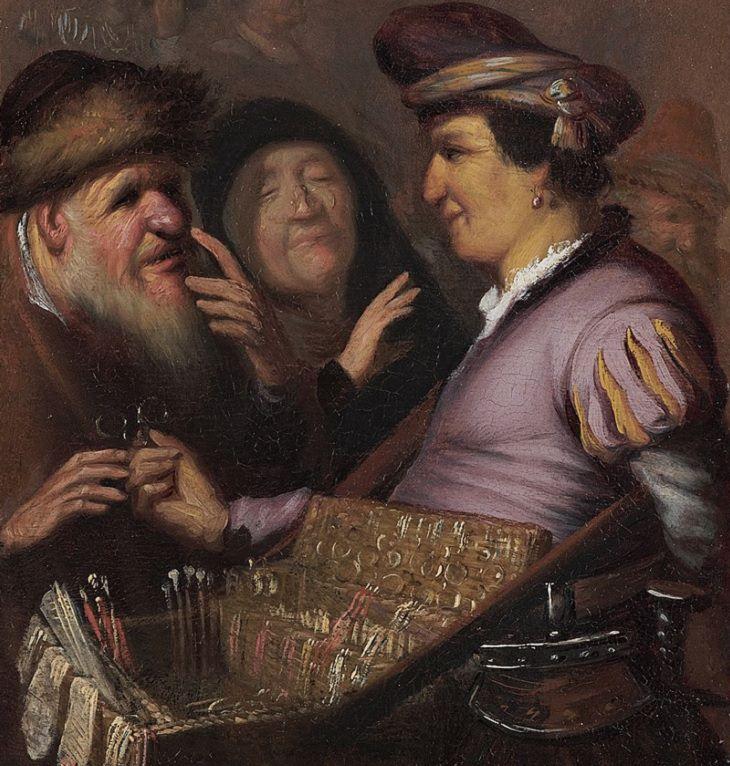 Lesser known works of Rembrandt, A Pedlar Selling Spectacles (Allegory of Sight), 1624-1625, Stedelijk Museum De Lakenhal, Leiden