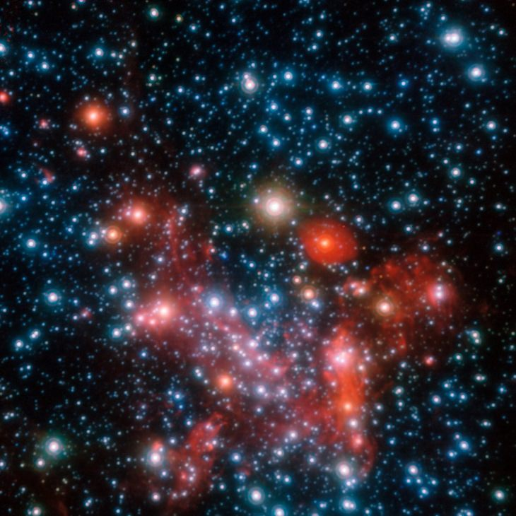 Pictures of the wonders of the cosmos, space and the universe from different conservatories, Cluster of Stars at the Center of the Milky Way, our Galaxy, taken by the European Organisation for Astronomical Research in the Southern Hemisphere (Also known as the European Souther Observatory or ESO)