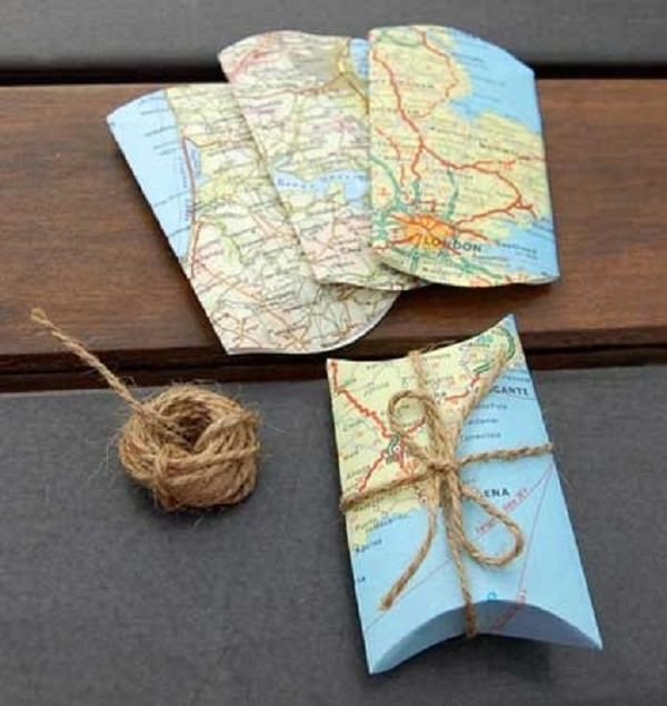 DIY ways of Gift-Wrapping Presents, map-wrapping gifts