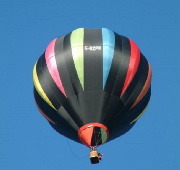 Different Hot air Balloons from Around the World, multicolored hot air balloon, G-BZPK