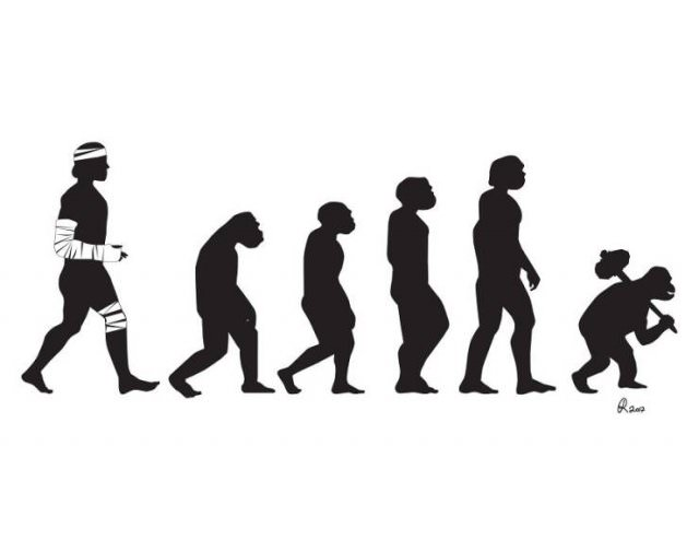art, funny, hilarious, joke, sketch, evolution, design and photography, chain, natural selection