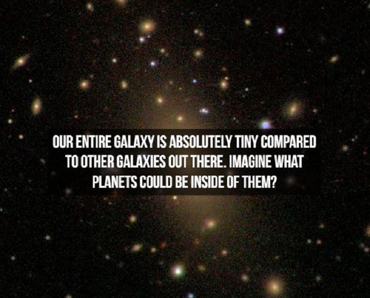 Incredible and interesting facts discovered about space, the universe and galaxies within, milky way is a tiny galaxy
