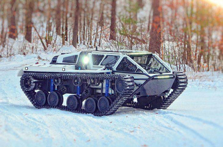 Incredible All-Terrain Vehicles (ATV's) for off-road travels and adventure, RIPSAW EV2 Tank