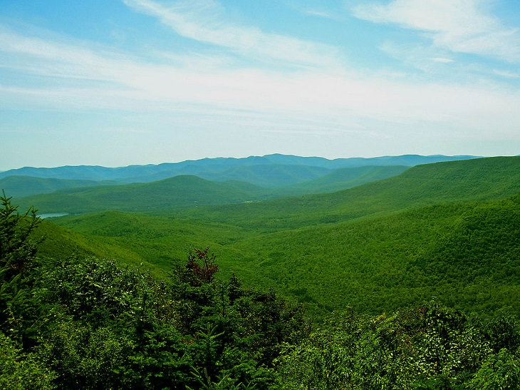 Photographs of The Catskill Mountain Range in the Appalachian Valley, the view over the Central Catskills