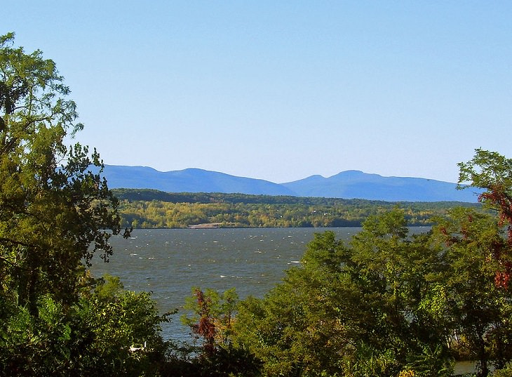 "Photographs of The Catskill Mountain Range in the Appalachian Valley, Views like this of the Catskills from the Hudson to the name ""Blue Mountains"" being used for a time"