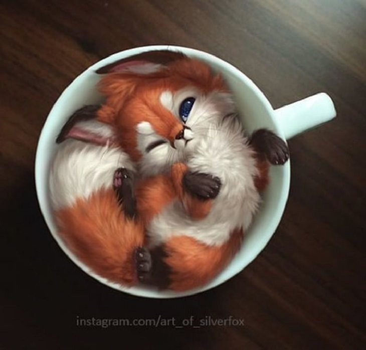 Malaysian Artist Yee Chong creates digital renderings of animals, like foxes, and brings them out into the real world