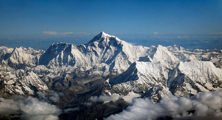 Pictures of the tallest peaks and beautiful landscapes found in the Himalayas, Mount Everest, the highest mountain in the world, standing at 29,000 feet on the border of Nepal and China