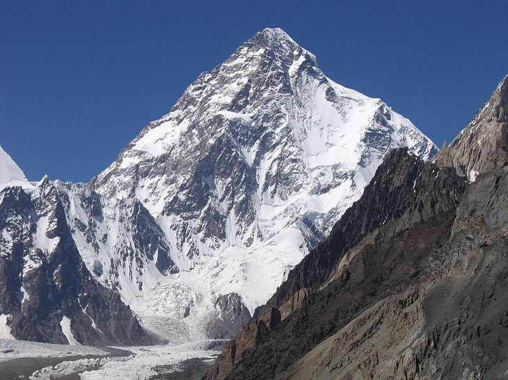 Pictures of the tallest peaks and beautiful landscapes found in the Himalayas, K2, the 2nd tallest mountain in the world at 28,000 feet, found in Pakistan