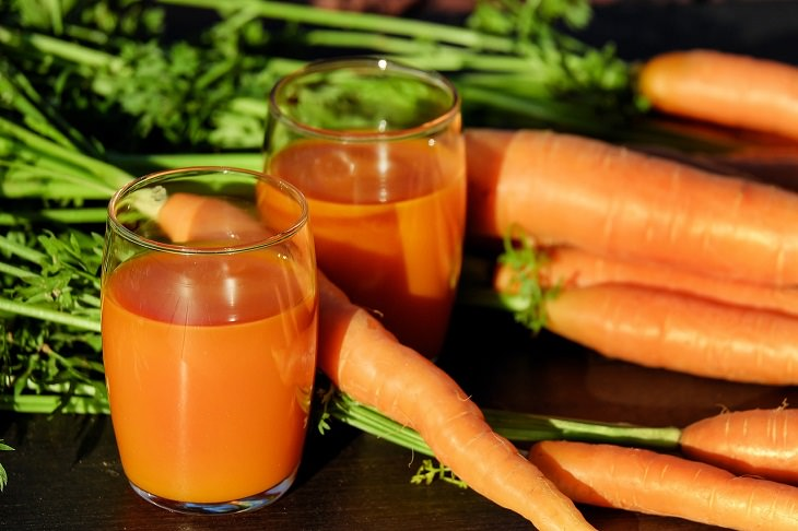 Carrot, Ginger and Fruit Juice, Recipes, Healthy, Tasty