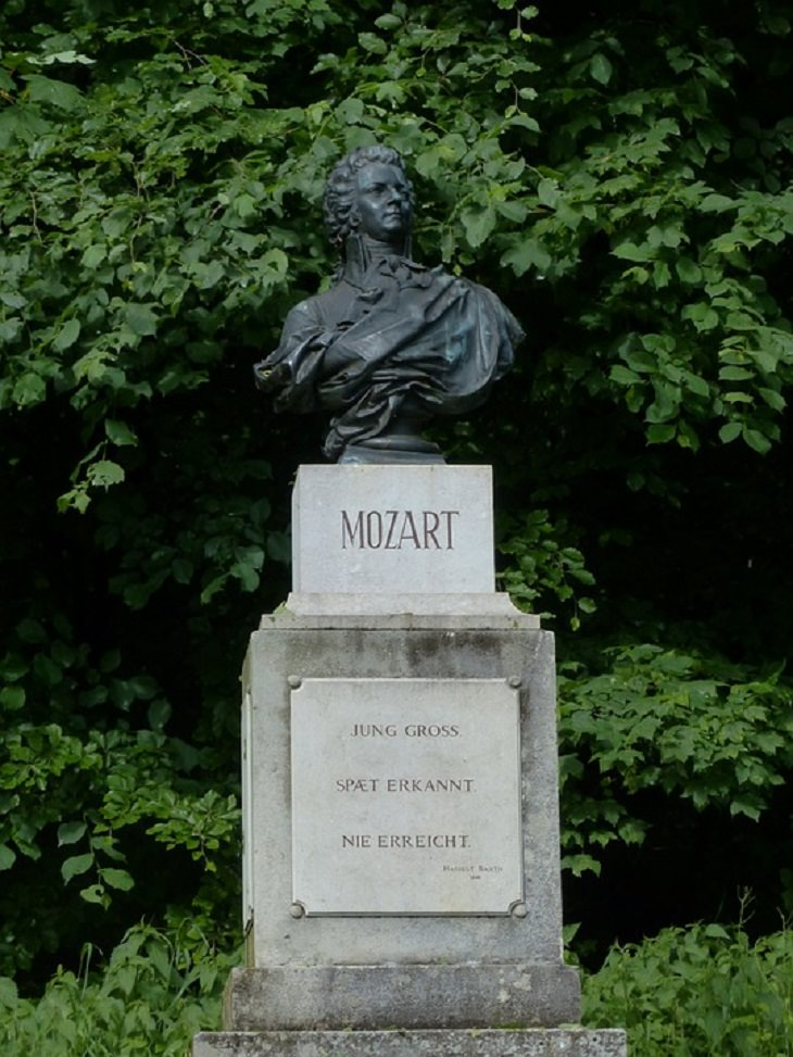 Mozart, Statue, Head, Historical, Music, Artist, Biopic, Amadeus,