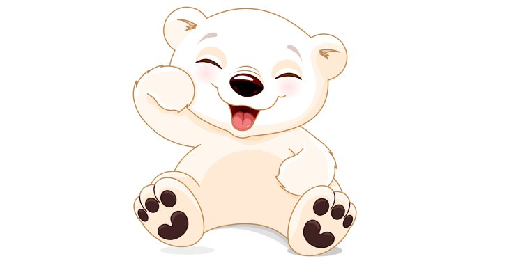 funny lines cute laughing drawn bear