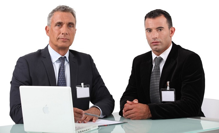 joke men in suits interviewing