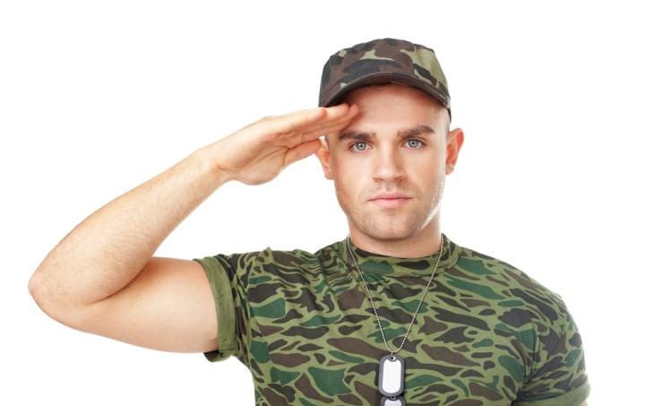 joke soldier saluting