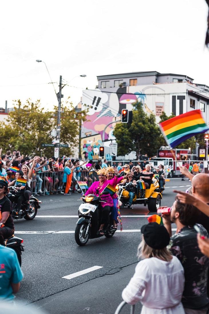 Sydney, Australia, Pride Parade, LGBTQI, Darlinghurst, Carnival, Festival, Mardi Gras, Beads, Dubloons, Alcohol, Party, Celebrations, Lenten Fasting, Tradition, New Orleans