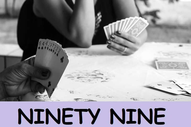 Ninety Nine, kids, family fun, deck, card games, playing cards, rummy