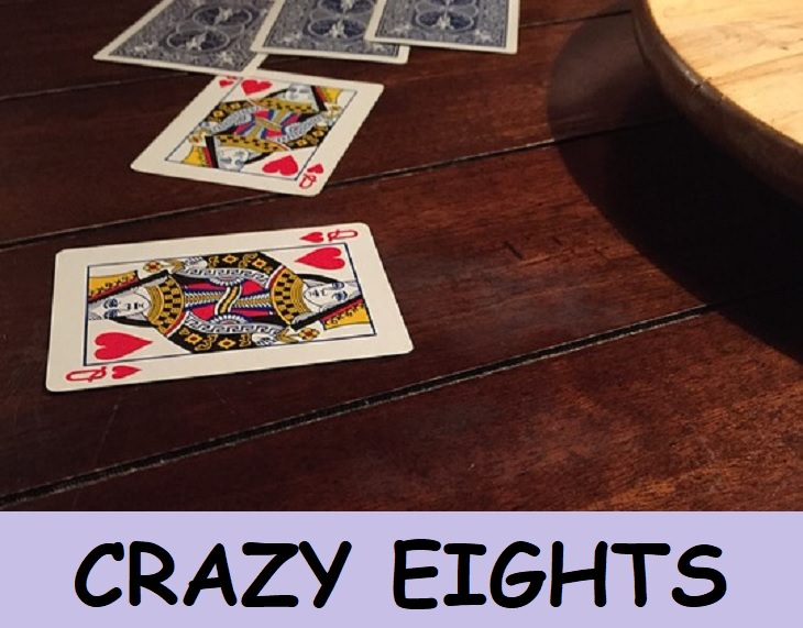 Crazy Eights, kids, family fun, deck, card games, playing cards, rummy