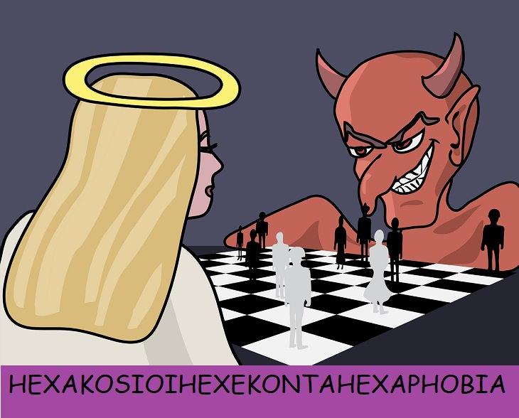 Hexakosioihexekontahexaphobia, Fear of the number 666, Devil, Demon, Satan, Fears, Phobias, Claustrophobia, Anxiety, Mental Health