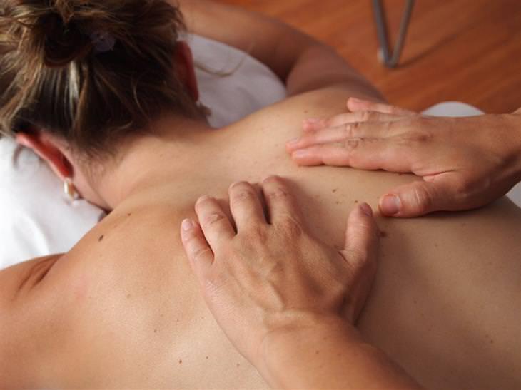 swedish massage woman getting massage