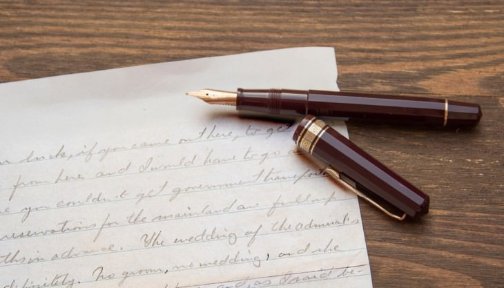 joke letter and black ink pen