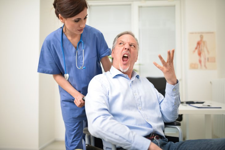 joke: nurse and angry patient