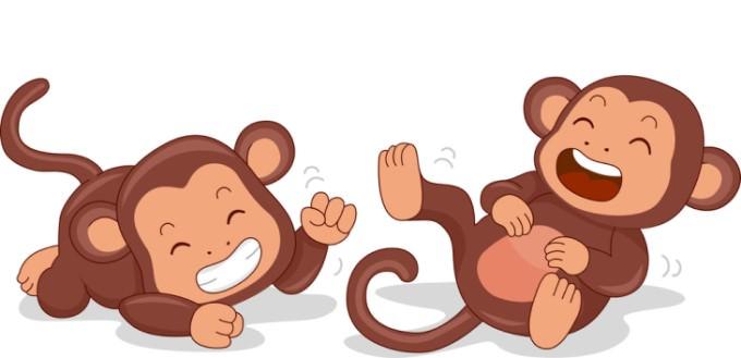 joke: monkeys laughing