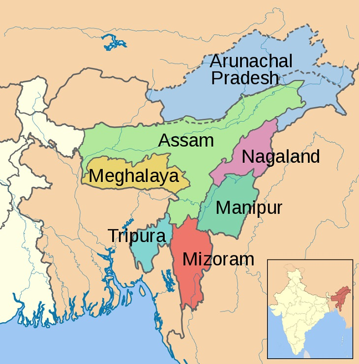 Majestic Beautiful Sights of the Northeast Indian State, Meghalaya, the seven sisters states,of Northeast India