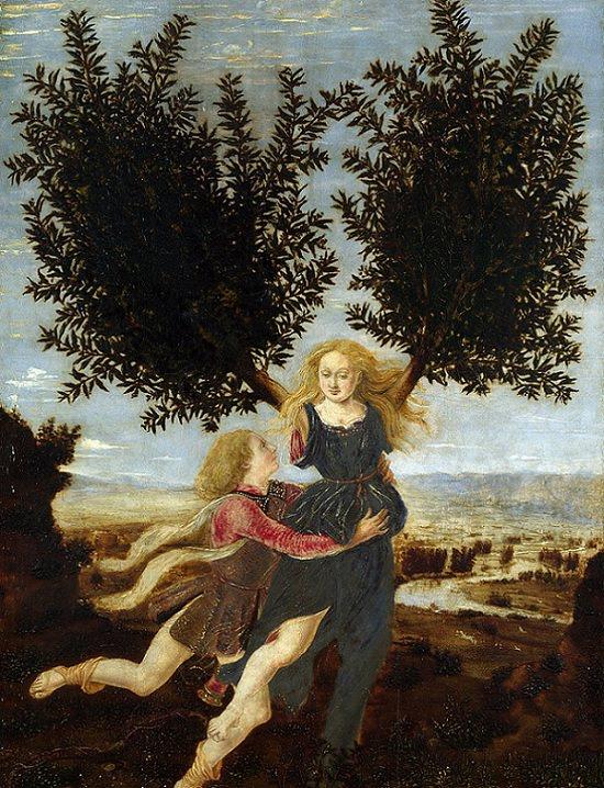 Επικές απίστευτες ιστορίες αγάπης και ρομαντικές ιστορίες από την ελληνική μυθολογία, ο Απόλλωνας προσκολλάται στη Δάφνη καθώς μεταμορφώνεται σε δέντρο δάφνης