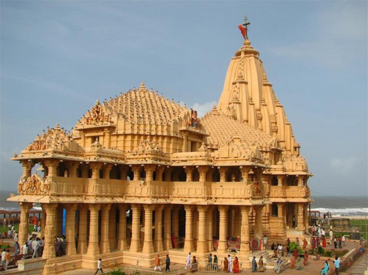 Beautiful ornate Hindu temples found in India and other countries across the World, Somnath Temple in Gujarat, India
