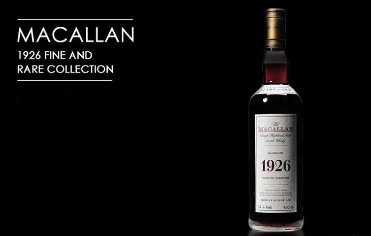 Most expensive spirits, liquors and alcohols sold across the world, 1926 Macallan Fine And Rare Collection, $75,000