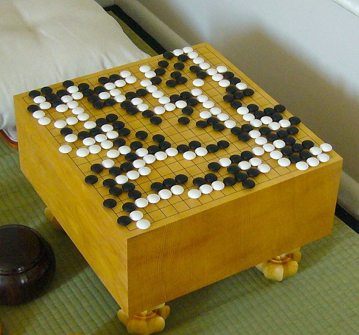 Oldest games played by ancient civilizations from around the world, Game board of Go with a game in progress