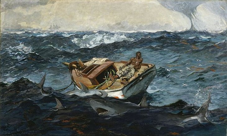 Marine art and paintings inspired by the sea, ships and sailing by famous artists, The Gulf Stream