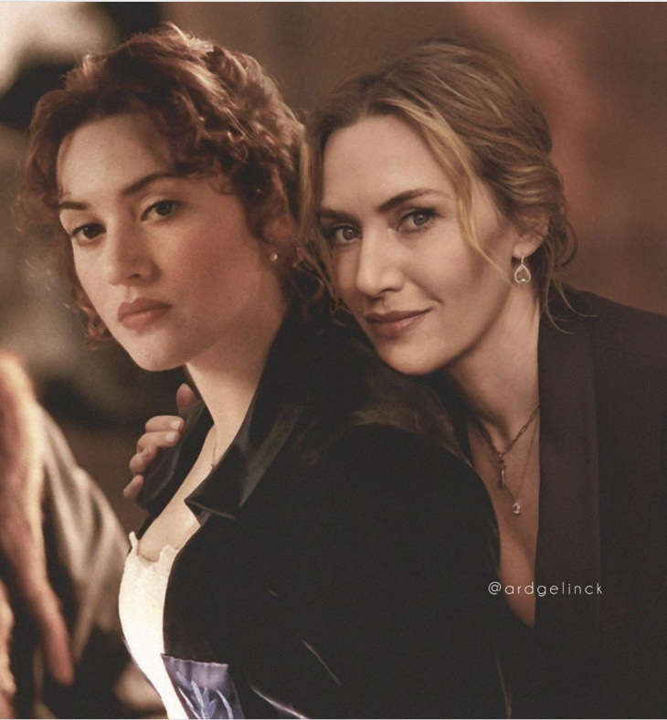 Celebrities Side by Side With Their Younger Selves, Kate Winslet