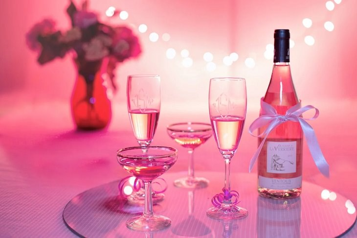 Meanings and symbolism of various colors in different countries and cultures, Pink champagne, pink